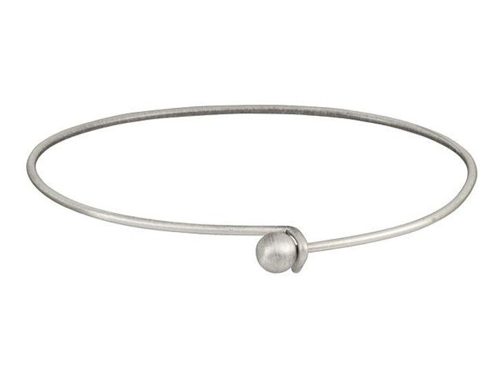 Antique Silver-Plated Add-a-Bead Bracelet Bangle