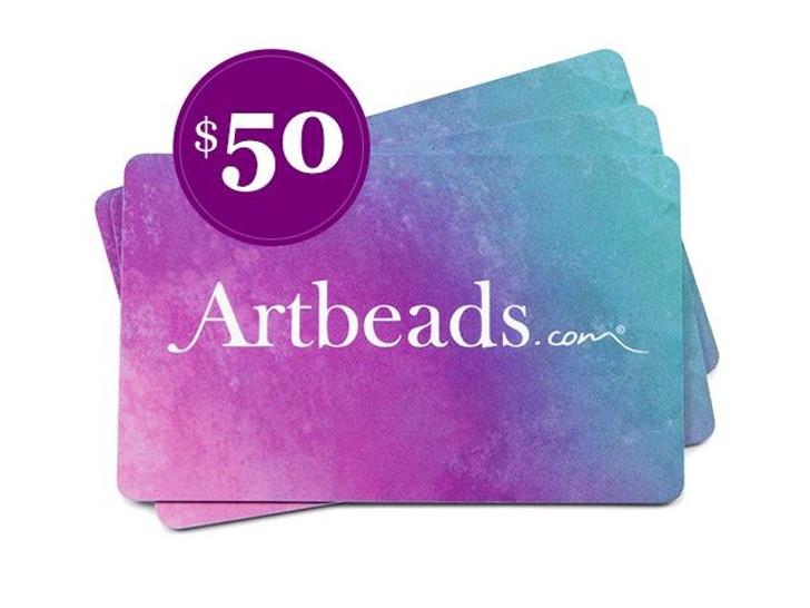 $50 Artbeads Gift Card