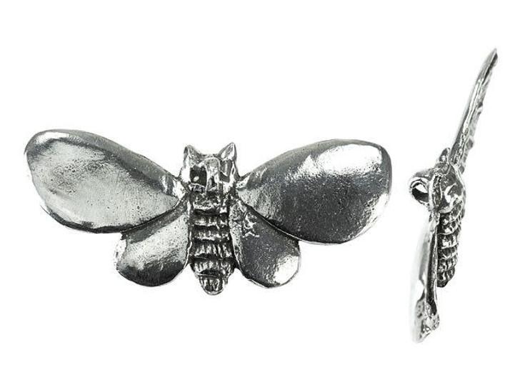 Green Girl Studios Pewter Kitty Cat Moth Pendant