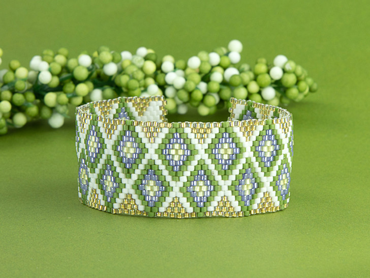 Artbeads Early Blooms Peyote Stitch TOHO Treasure Bracelet Kit by Cynthia Kimura