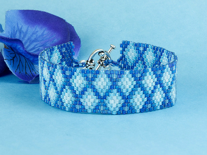 Artbeads Diamond Cascade Peyote Stitch TOHO Treasure Bracelet Kit by Cynthia Kimura