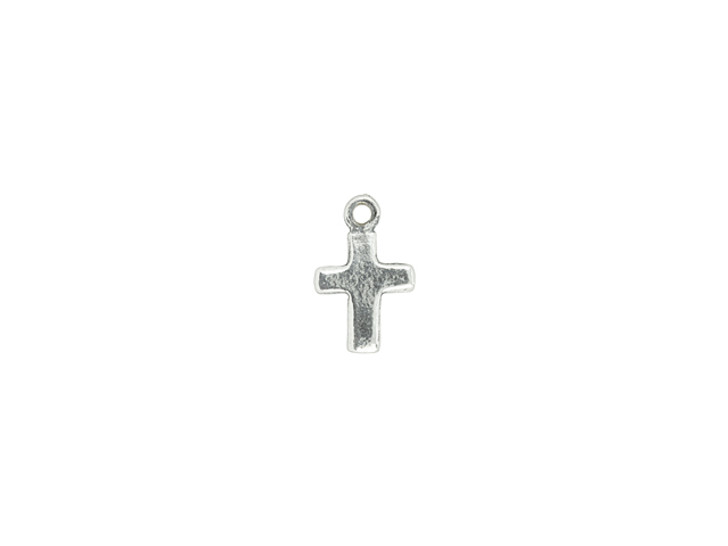 Artbeads Sterling Silver Tiny Flat Cross Charm