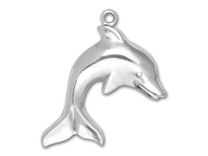 Antique Silver-Plated Dolphin Charm