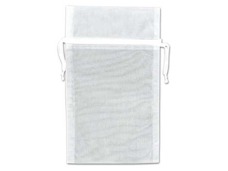 6x9-Inch White Organza Bag