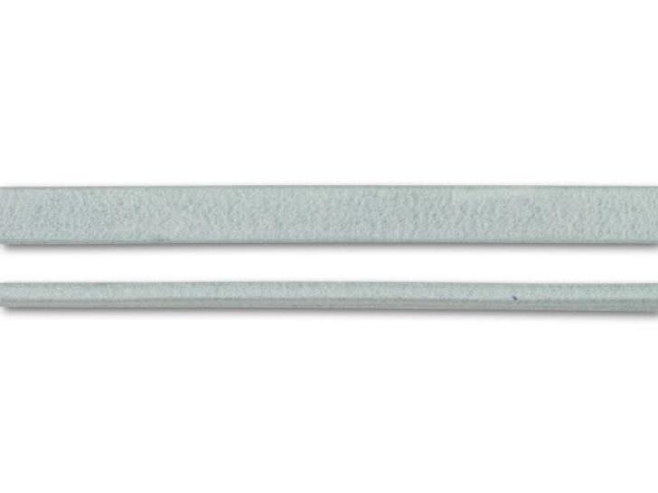 Regaliz 5mm Ice Arizona Flat Leather by the Inch