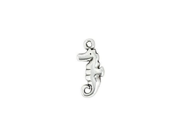 Antique Silver-Plated Seahorse Charm
