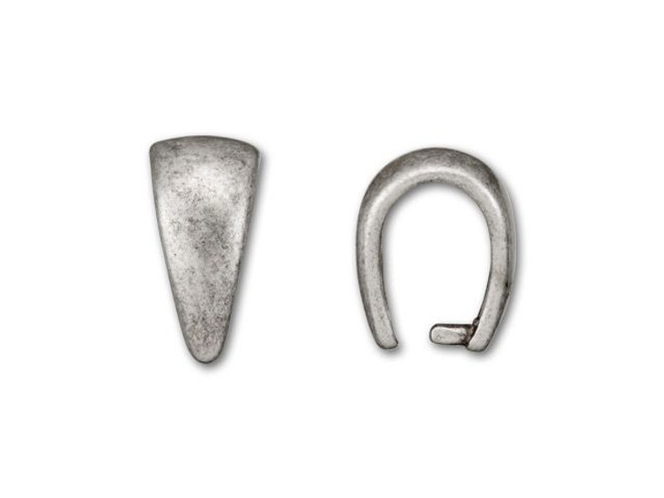 Antique Silver-Plated Small Plain Pinch Bail
