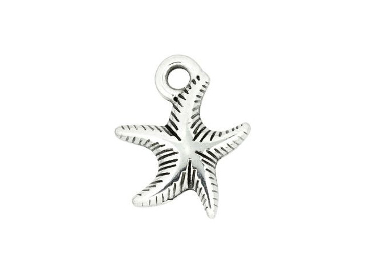 Antique Silver-Plated Starfish Charm