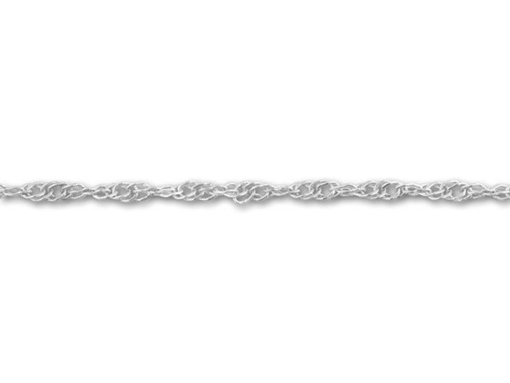 Antique Silver-Plated Twisted Curb Chain by the Foot