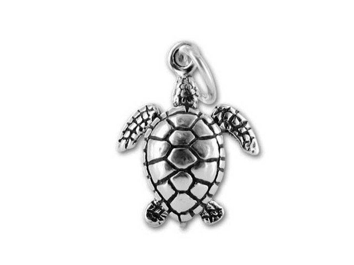 Antique Sterling Silver Sea Turtle Charm