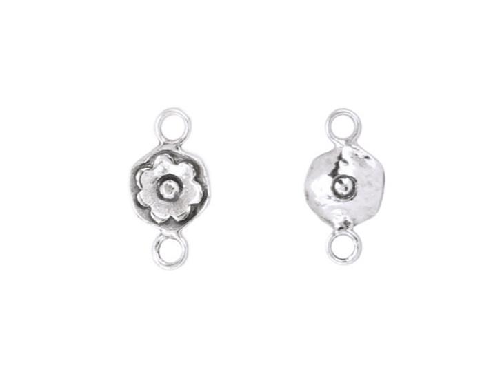Sterling Silver Flower Link