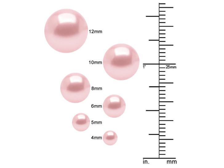 Swarovski 5810 3mm Round Pearl Crystal Rouge