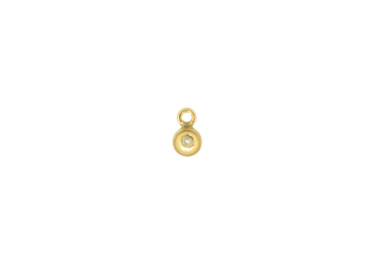 Gold-Filled 3.0mm Bead with Silicone Grommet (0.5mm Hole) and Closed Ring
