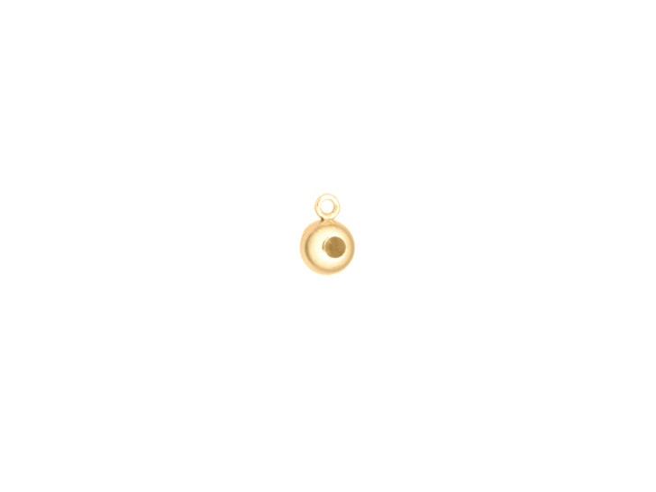 Gold-Filled 4.0mm Bead with Silicone Grommet (0.5mm Hole) and Closed Ring