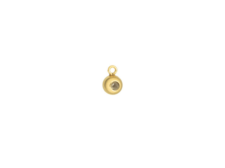 Gold-Filled 4.0mm Bead with Silicone Grommet (1.2mm Hole) and Closed Ring