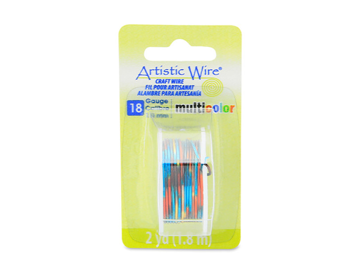 18 Gauge Multi-Color Blue/Red/Gold Artistic Wire 2 Yard Spool