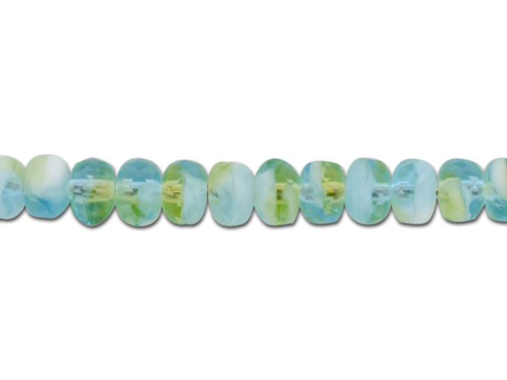 Czech Glass 5 x 3mm Peruvian Opal Transparent Mix Faceted Rondelle Bead Strand by Raven's Journey