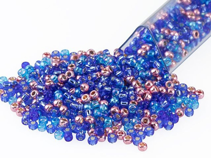 Artbeads Blue Heather Designer Blend, 11/0 TOHO Round Seed Beads