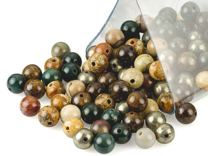 Artbeads Bravery Designer Blend, 6mm Round Gemstone Beads