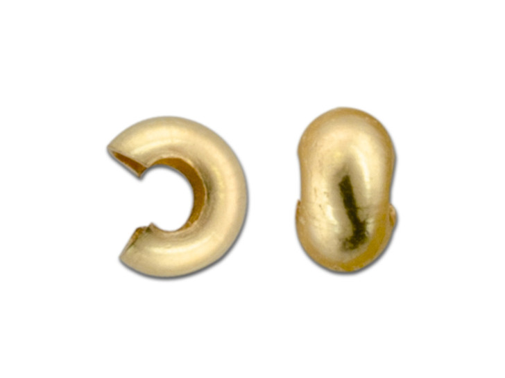 14K/20 Gold-Filled 3.2mm Crimp Cover