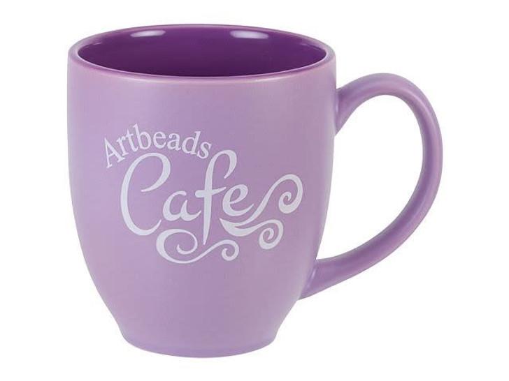 Artbeads Cafe 15oz Purple Bistro Mug
