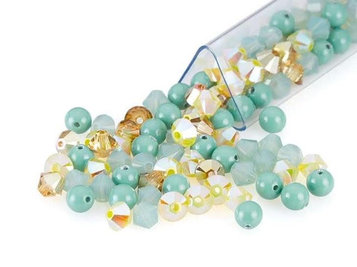 Swarovski 4mm Crystal Mix Cleopatra Turquoise Designer Blend
