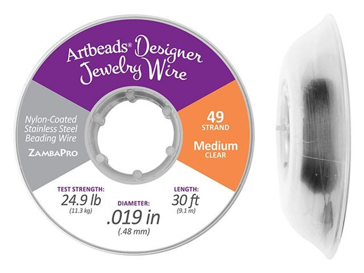 Artbeads Designer Jewelry Wire, 49-Strand .019 30-Feet (9.1 Meters)