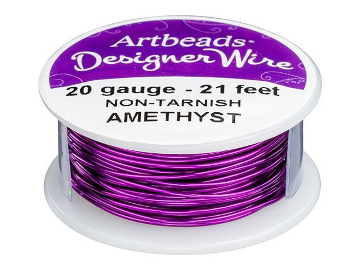 Artbeads Designer Wire - Amethyst Non-Tarnish 20 Gauge (21-foot spool)