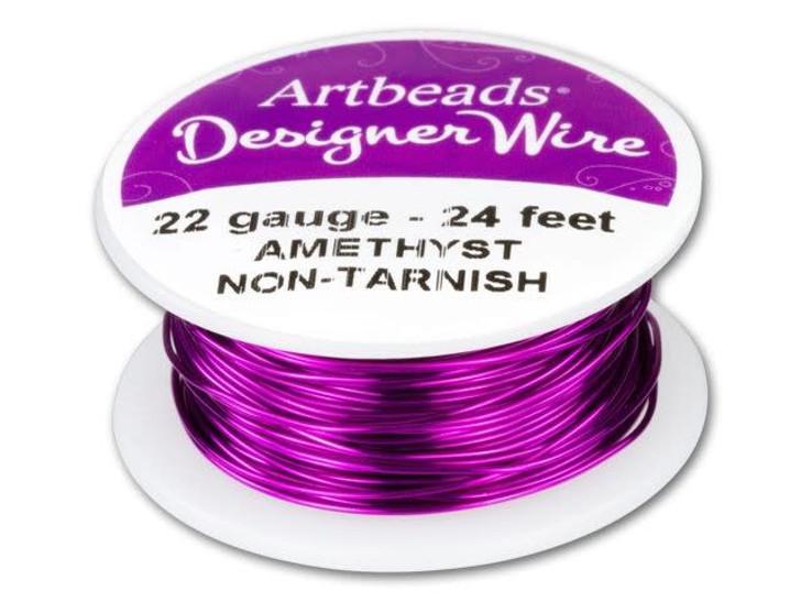 Artbeads Designer Wire - Amethyst Non-Tarnish 22 Gauge (24-foot spool)