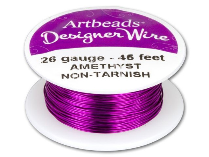 Artbeads Designer Wire - Amethyst Non-Tarnish 26 Gauge (45-foot spool)