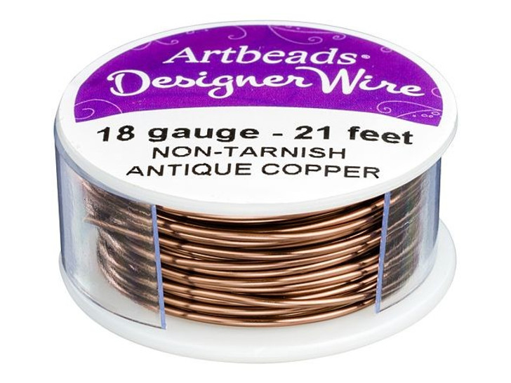 Artbeads Designer Wire - Antique Copper Non-Tarnish 18 Gauge (21-foot spool)