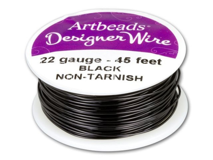 Artbeads Designer Wire - Black Non-Tarnish 22 Gauge (45-foot spool)