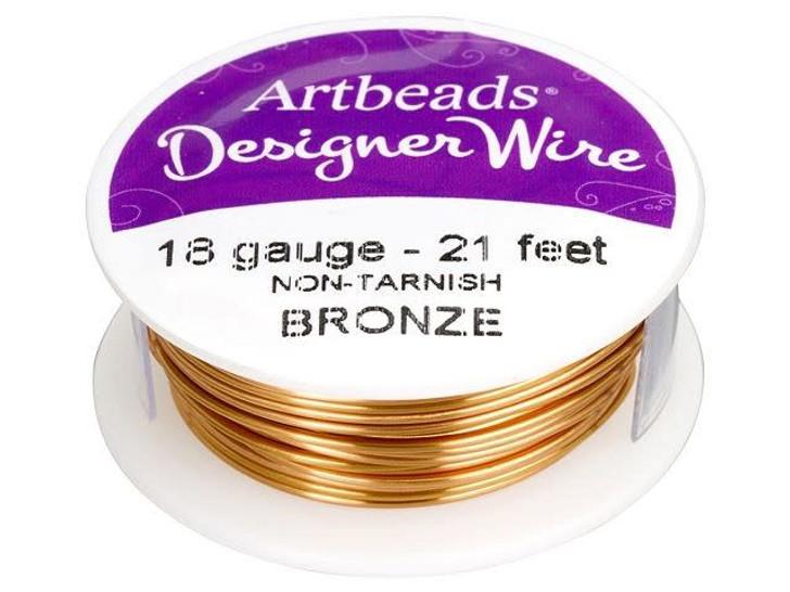 Artbeads Designer Wire - Bronze Non-Tarnish 18 Gauge (21-foot spool)
