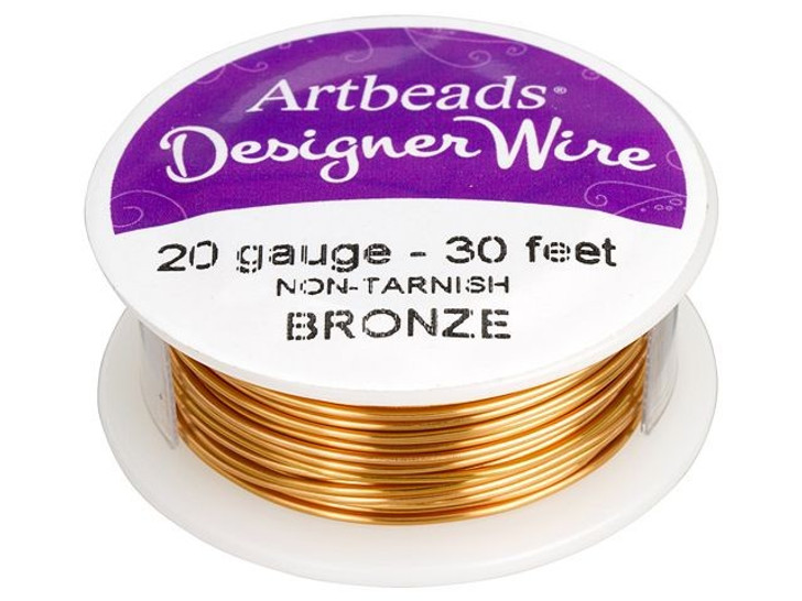 Artbeads Designer Wire - Bronze Non-Tarnish 20 Gauge (30-foot spool)
