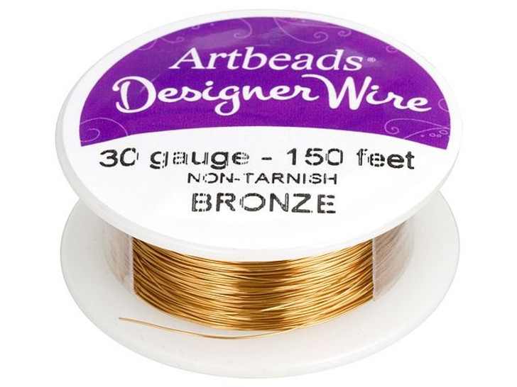 Artbeads Designer Wire - Bronze Non-Tarnish 30 Gauge (150-foot spool)