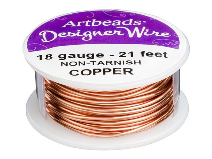 Artbeads Designer Wire - Copper Non-Tarnish 18 Gauge (21-foot spool)