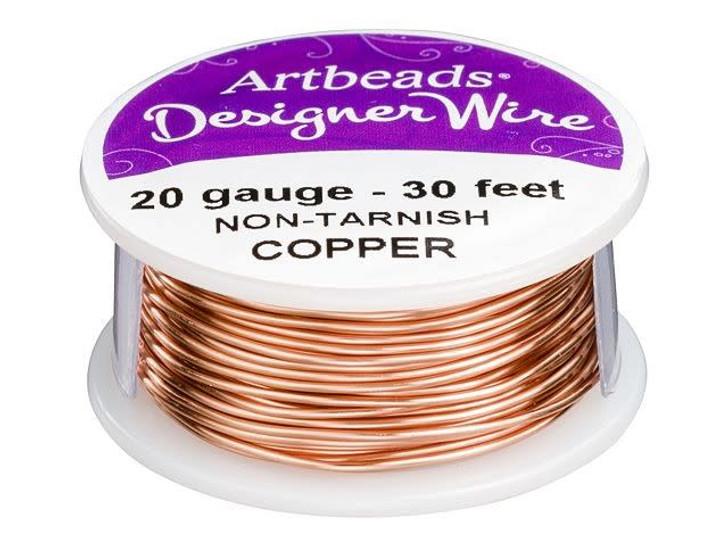 Artbeads Designer Wire - Copper Non-Tarnish 20 Gauge (30-foot spool)