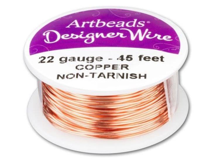 Artbeads Designer Wire - Copper Non-Tarnish 22 Gauge (45-foot spool)