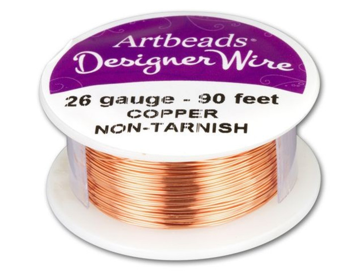 Artbeads Designer Wire - Copper Non-Tarnish 26 Gauge (90-foot spool)