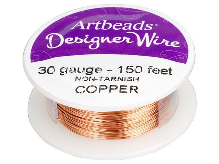 Artbeads Designer Wire - Copper Non-Tarnish 30 Gauge (150-foot spool)