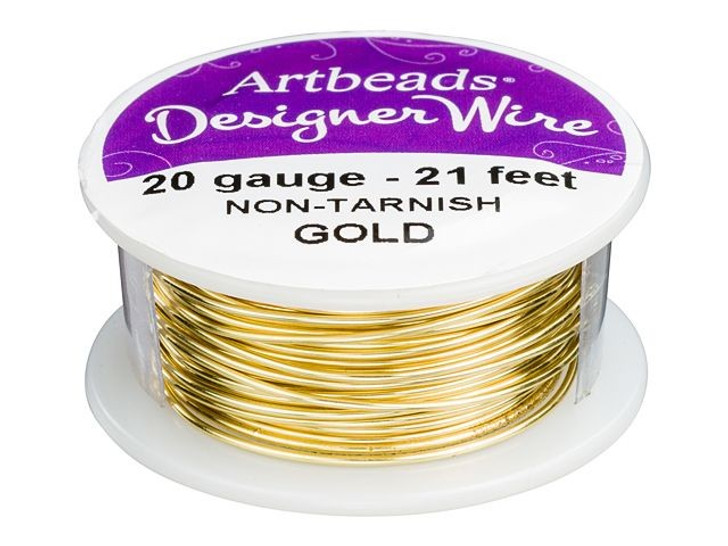 Artbeads Designer Wire - Gold Non-Tarnish 20 Gauge (21-foot spool)