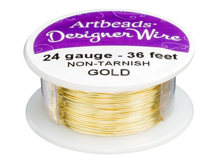 Artbeads Designer Wire - Gold Non-Tarnish 24 Gauge (36-foot spool)