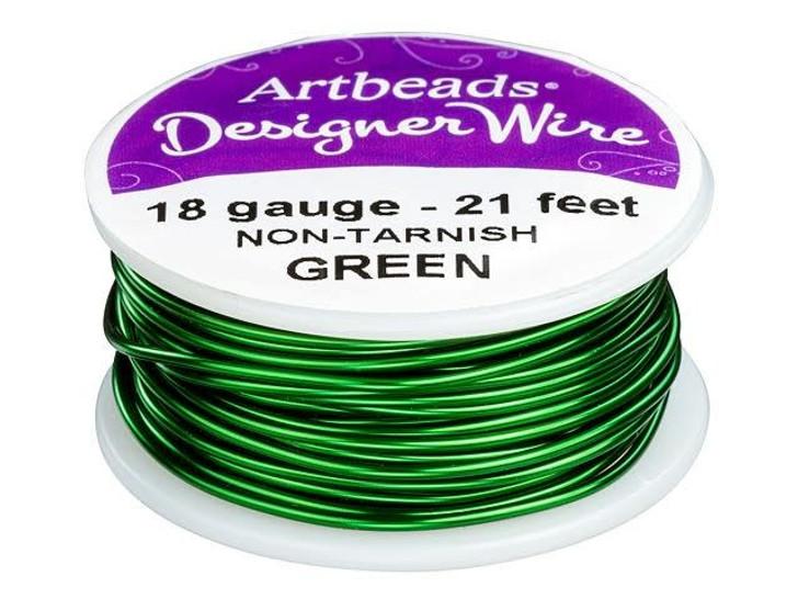 Artbeads Designer Wire - Green Non-Tarnish 18 Gauge (21-foot spool)
