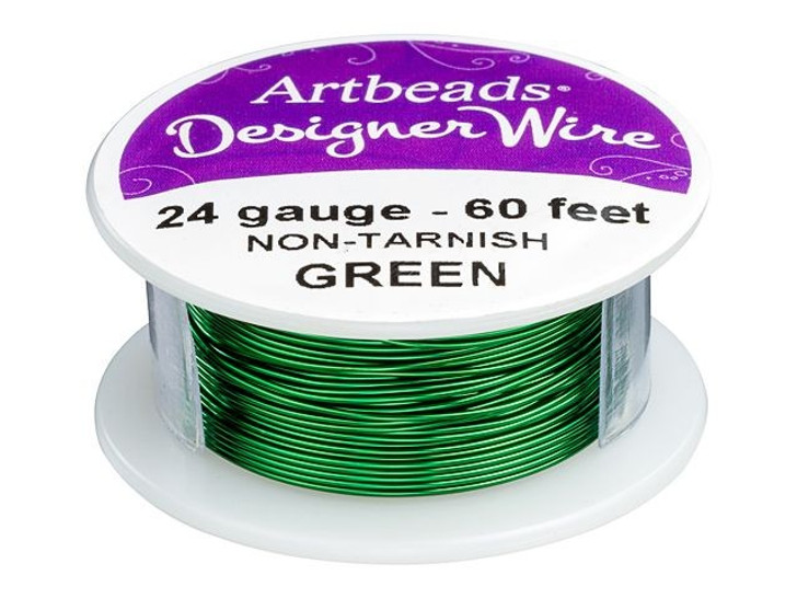 Artbeads Designer Wire - Green Non-Tarnish 24 Gauge (60-foot spool)