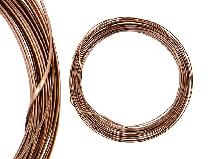 Artbeads Designer Wire - Half-Round 18 Gauge - 21 Feet Non-Tarnish Antique Copper
