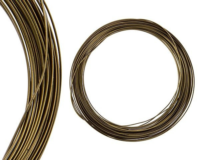 Artbeads Designer Wire - Half-Round 18 Gauge - 21 Feet Non-Tarnish Bronze