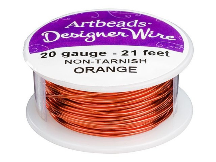 Artbeads Designer Wire - Orange Non-Tarnish 20 Gauge (21-foot spool)