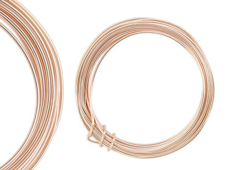 Artbeads Designer Wire - Rose Gold Non-Tarnish 16 Gauge (15-foot coil)
