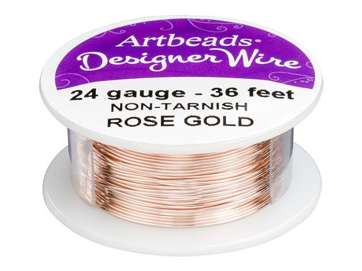 Artbeads Designer Wire - Rose Gold Non-Tarnish 24 Gauge (36-foot spool)