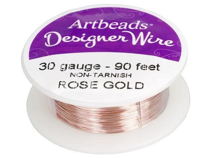 Artbeads Designer Wire - Rose Gold Non-Tarnish 30 Gauge (90-foot spool)